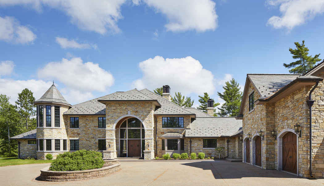 Home Exterior Design With Stone
