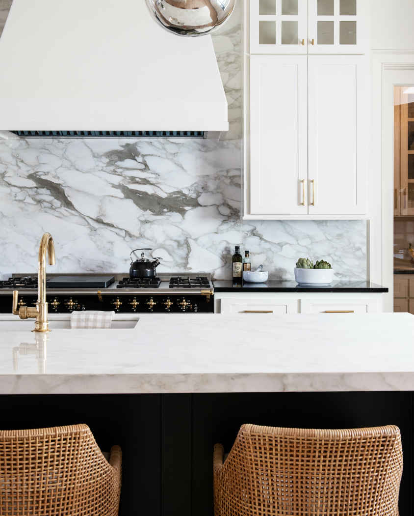 Kitchen Design With Gold Finishes