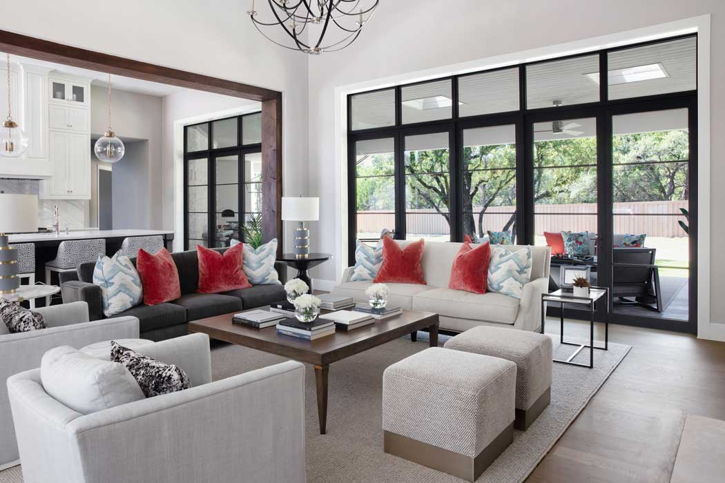 Living Room Design Leander TX