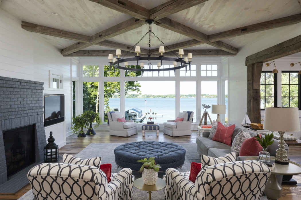 Living Room Interior Design With Lake View