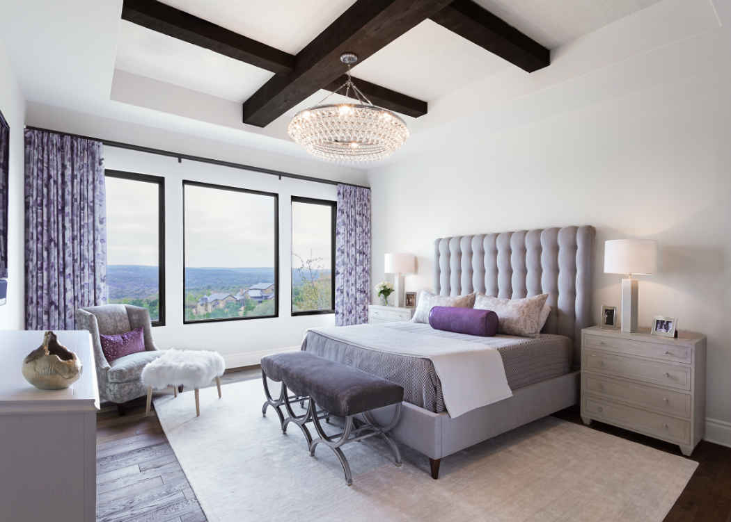 Master Bedroom With Deep Purple Accents