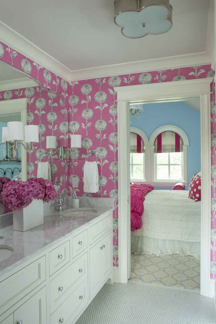 Pink Kids Bathroom Interior Design