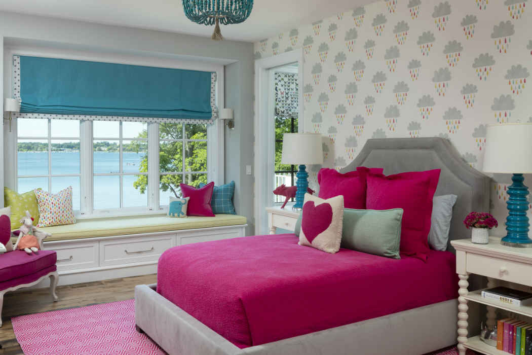 Pink Kids Bedroom Interior Design Minneapolis