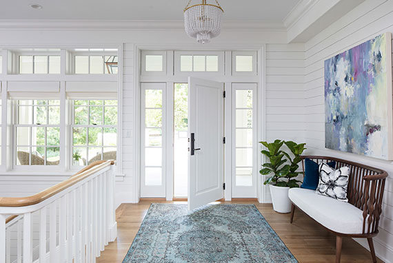 Shiplap Entryway With Pastel Accents