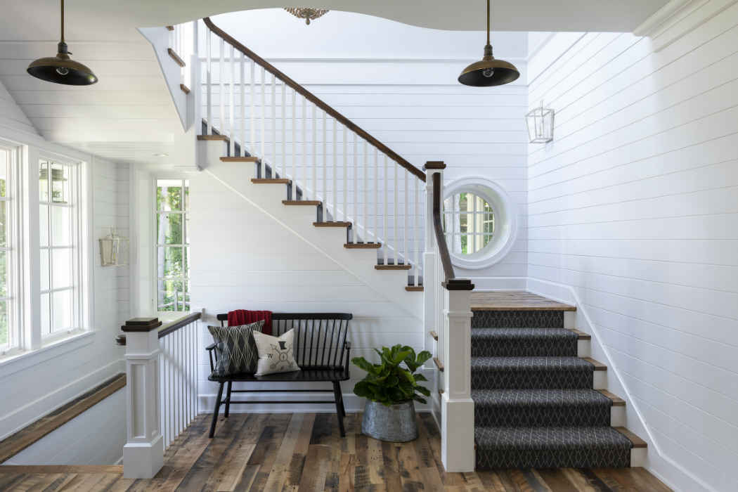 Shiplap Stairs Interior Design Minneapolis Mn