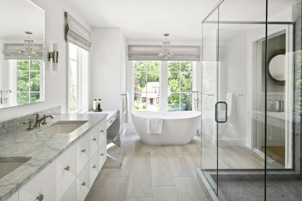 15 Uptown Modern Colonial Master Bathroom