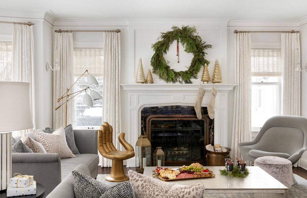1 Home For The Holidays Living Room Fireplace