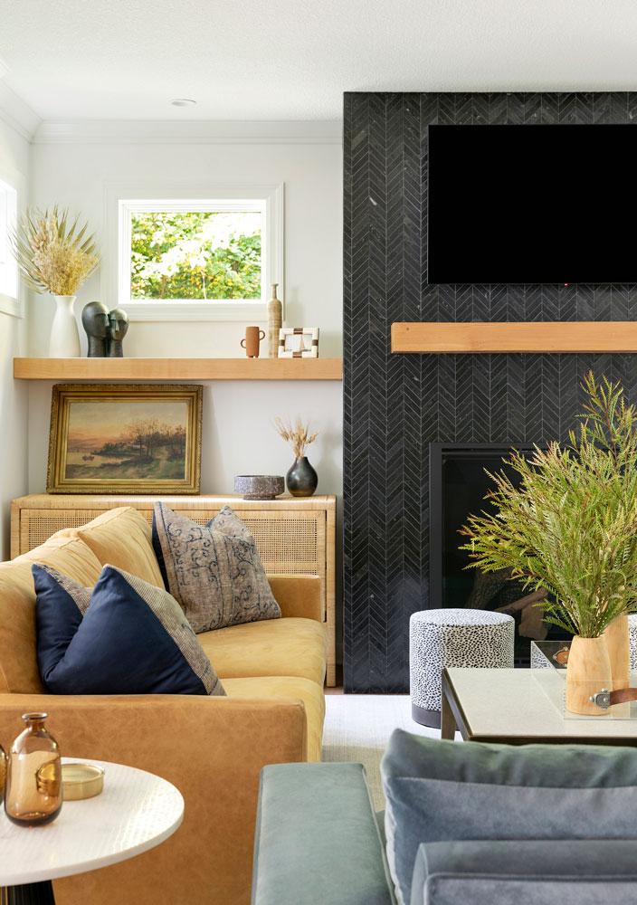 11 Boho Bungalow Remodel Living Room Side