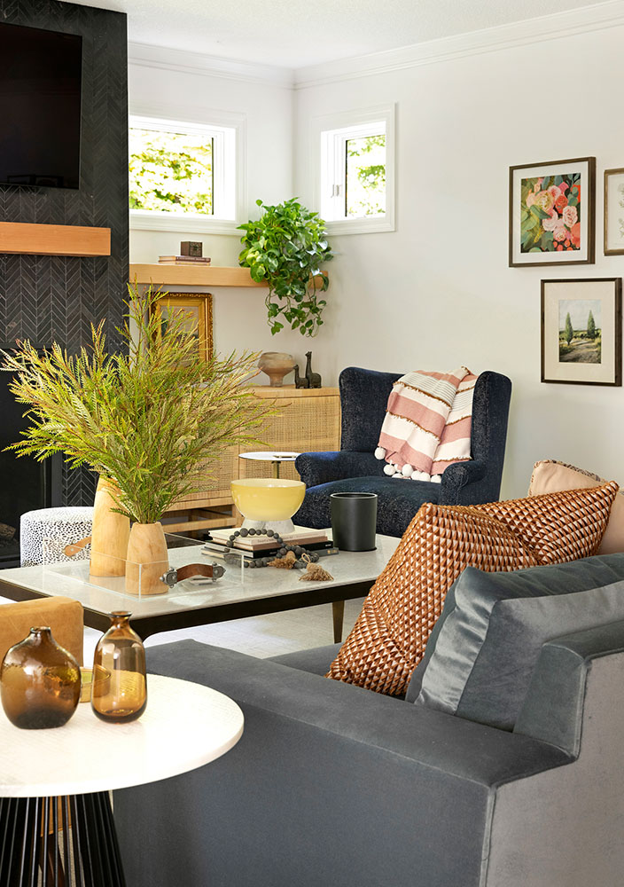 12 Boho Bungalow Remodel Living Room Angle