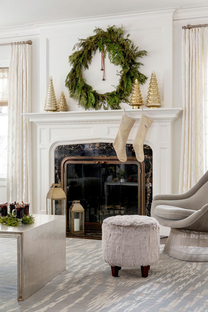 2 Home For The Holidays Fireplace Mantle