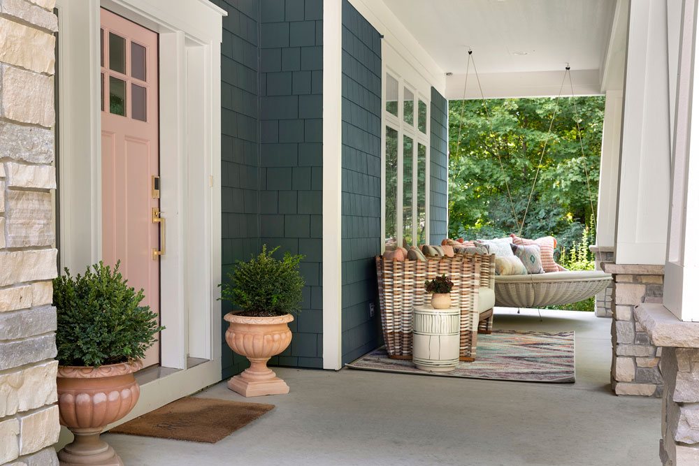 25 Boho Bungalow Remodel Front Porch Angle