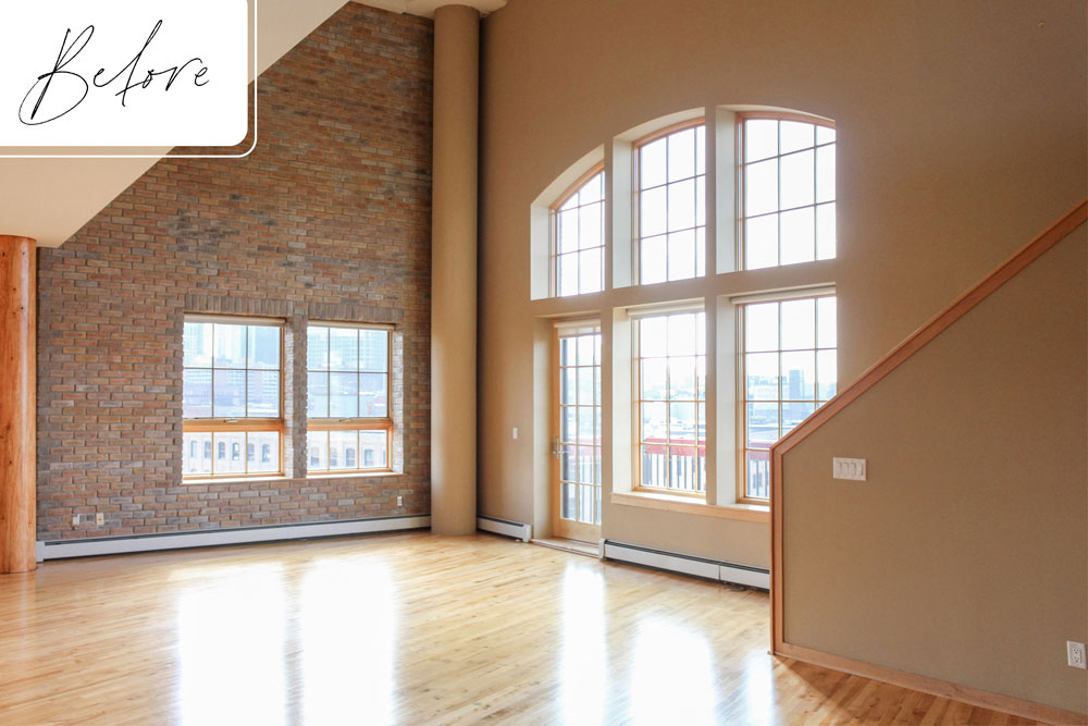 A Downtown Loft Remodel Before Living Room