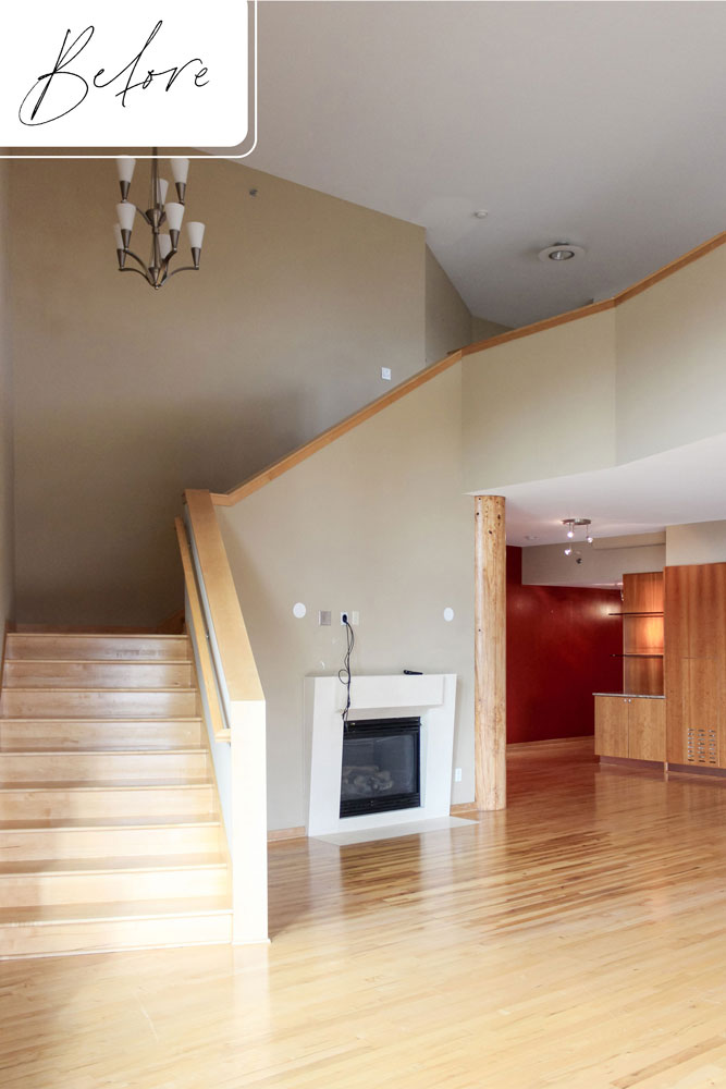 C Downtown Loft Remodel Before Stairs