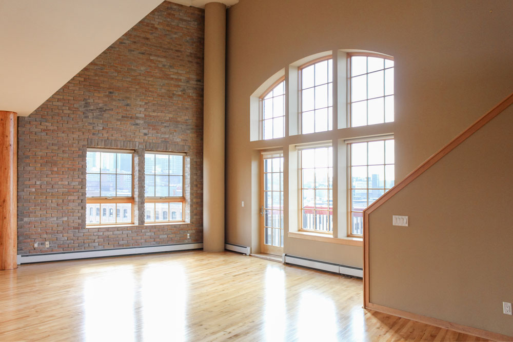 Downtown Loft Remodel Before Living Room