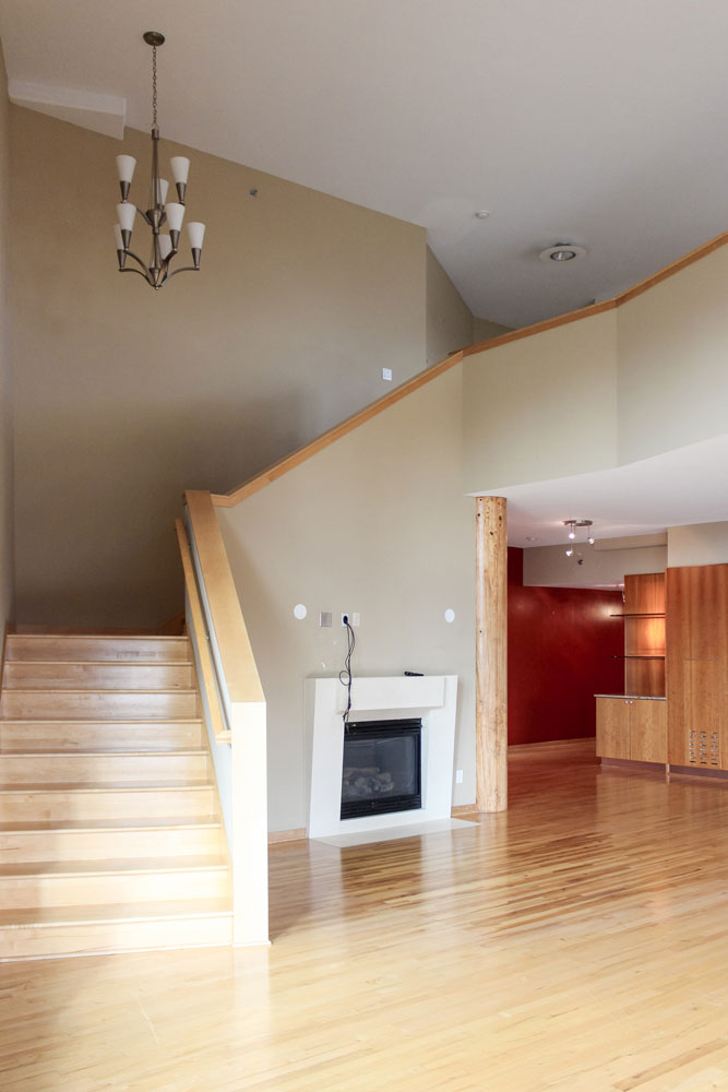 Downtown Loft Remodel Before Stairs
