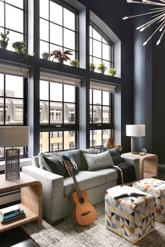 Downtown Loft Remodel Boys Room Window