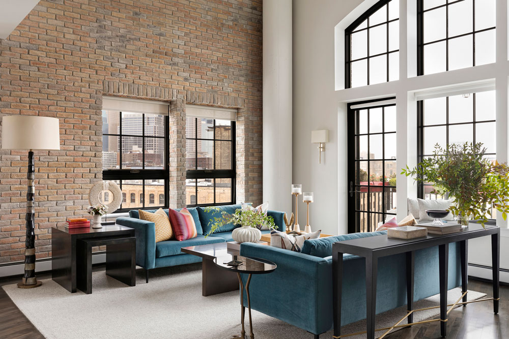 Downtown Loft Remodel Living Angle