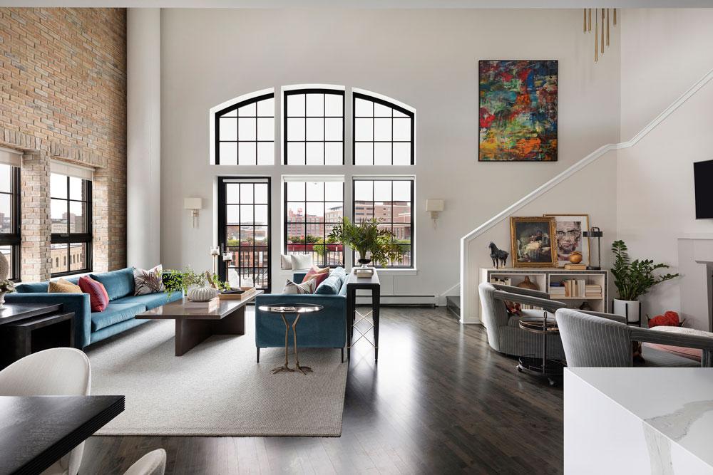 Downtown Loft Remodel Living Room