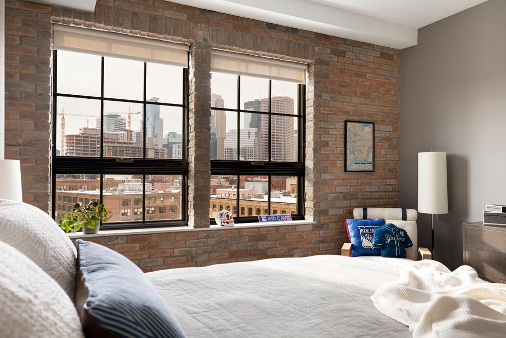 Downtown Loft Remodel Lofted Bedroom Detail