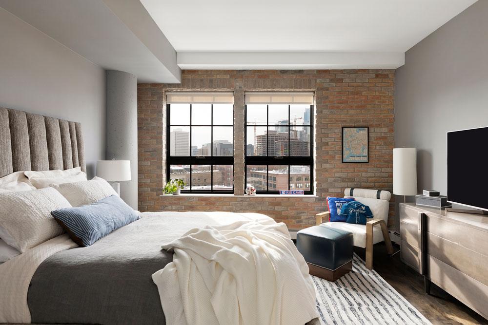 Downtown Loft Remodel Lofted Bedroom