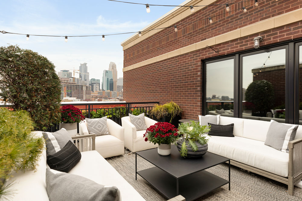 Downtown Loft Remodel Outdoor Living Angle