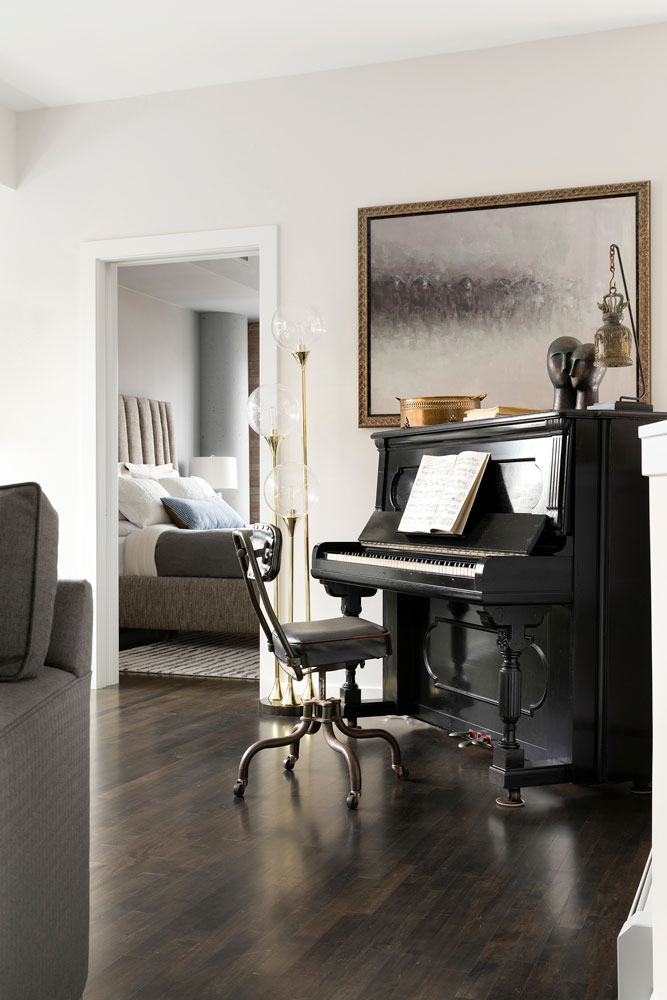 Downtown Loft Remodel Piano Room Detail