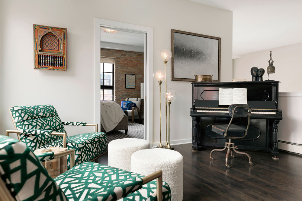 Downtown Loft Remodel Piano Room