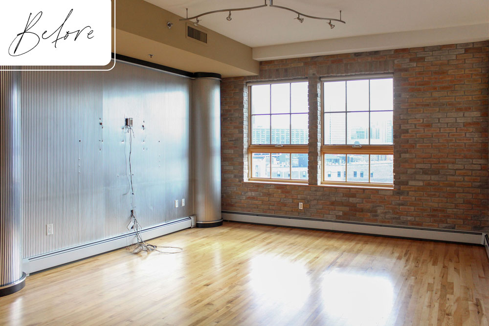 H Downtown Loft Remodel Before Lofted Bedroom