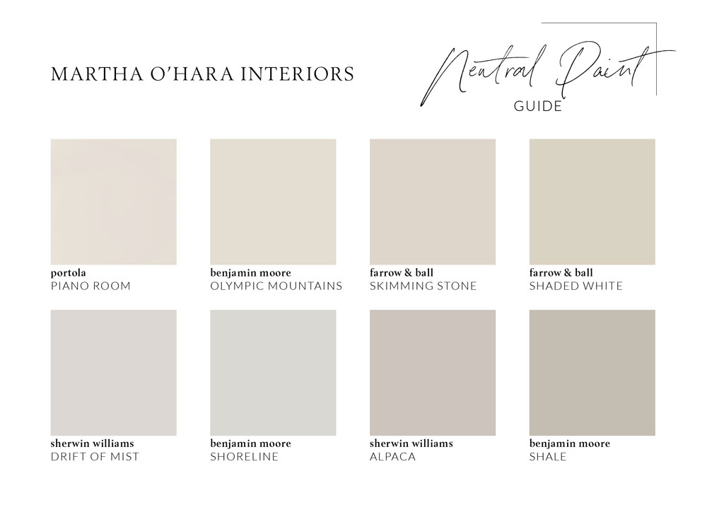 Our Favorite Neutral Paint Colors.
